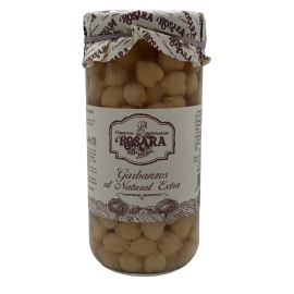 Chickpeas natural brand Rosara 1kg glass jar